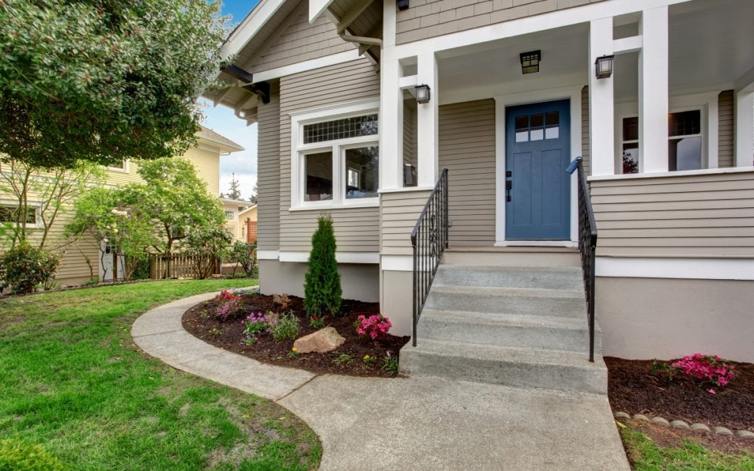 paint the front door to improve curb appeal